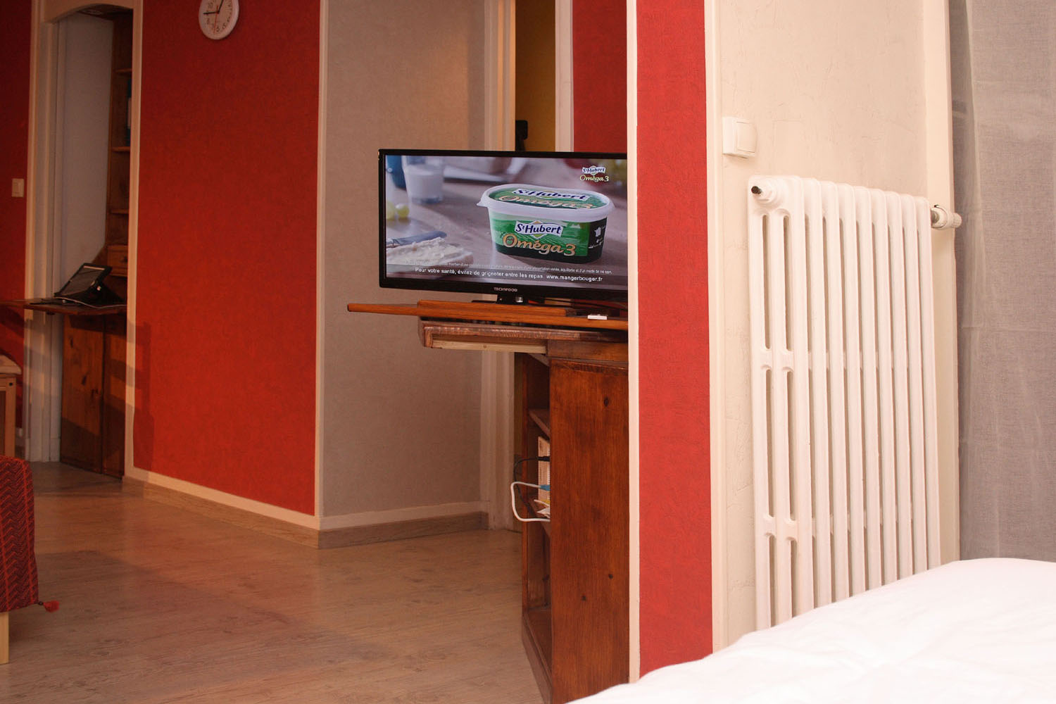 TV visible from bed